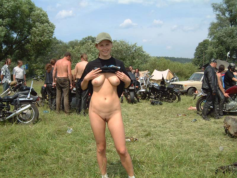 Motorcycle week nude