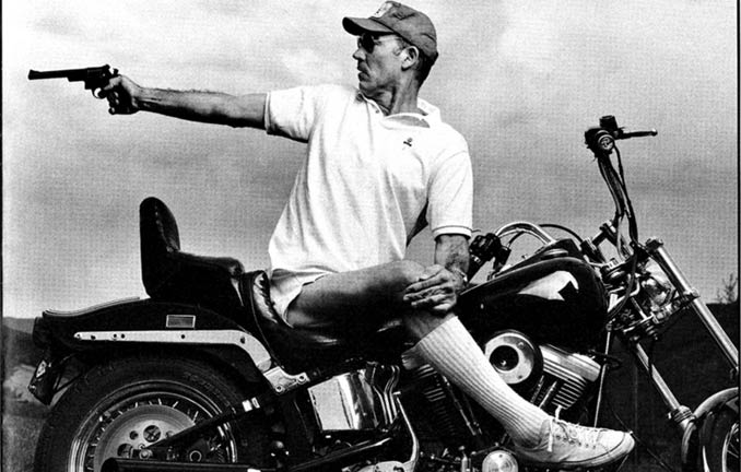 Hunter S. Thompson on motorcycle
