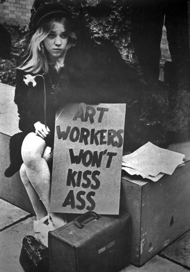 art workers won't kiss ass